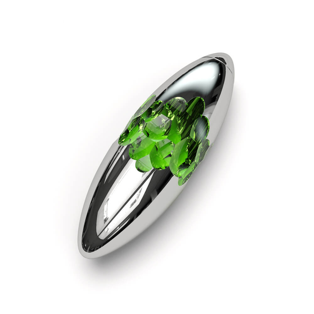 Argent nano coating with emerald center