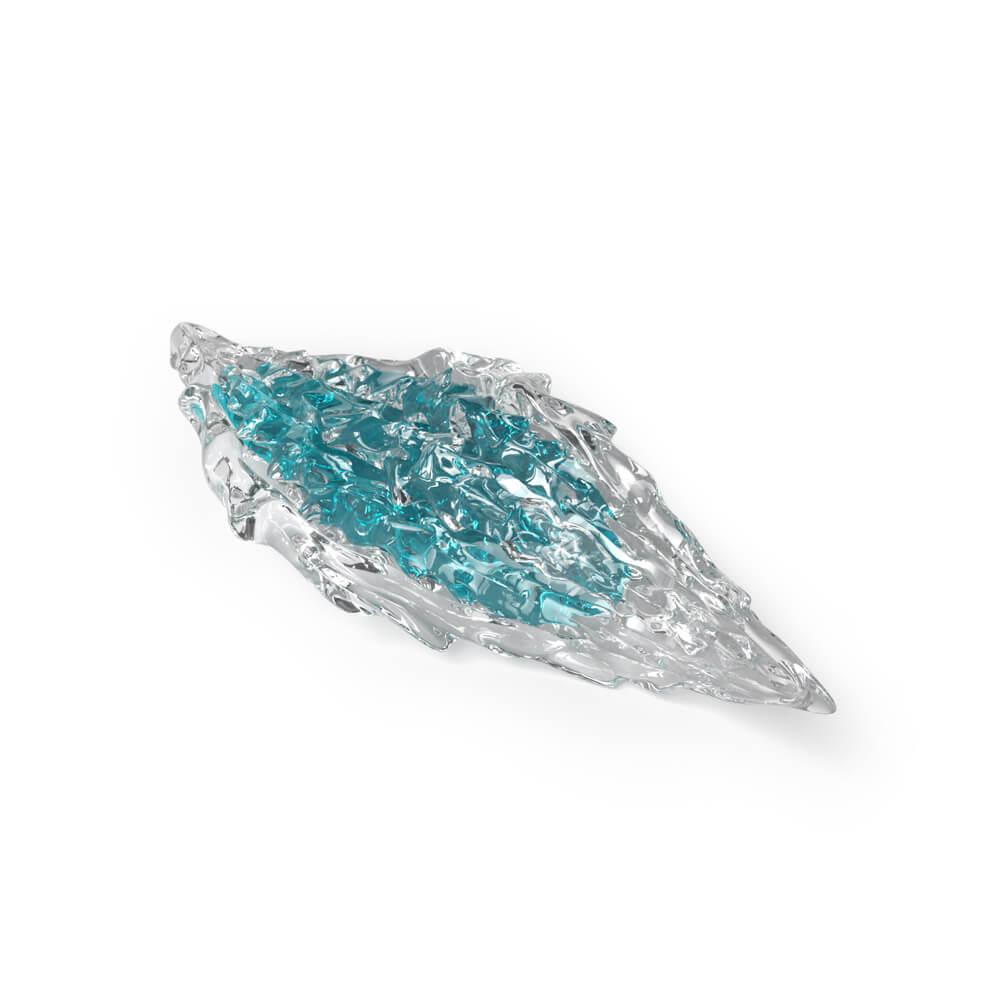Crystal with aquamarine core