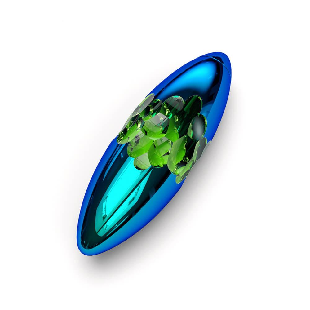 Titan nano coating with emerald center