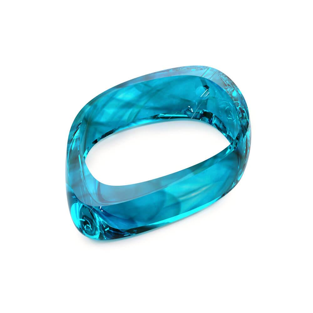 Aquamarine with haze