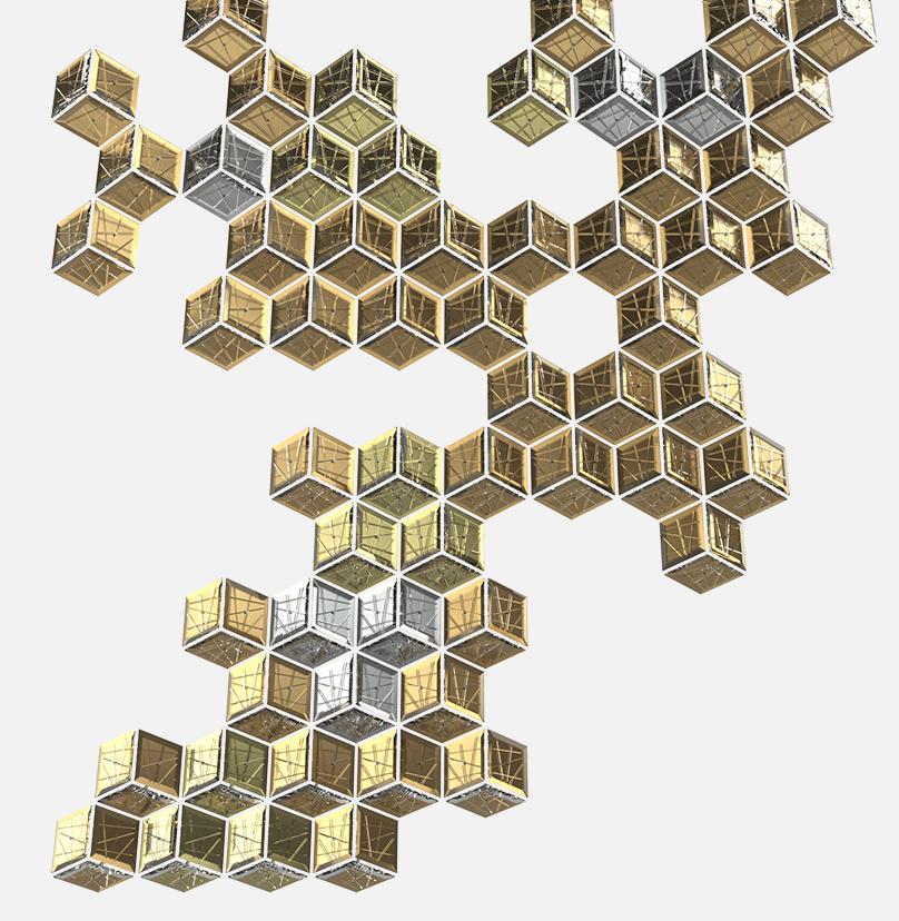 Diamond Wall Composition Sans Souci Lighting